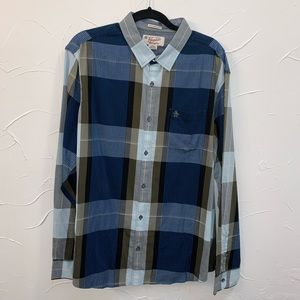 Penguin XXL plaid button-Brand New- Tags in pocket
